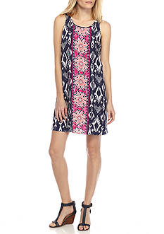 Ruby Rd Cool Summer Ikat Dress