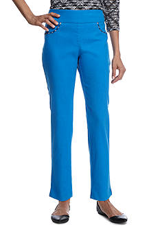 Ruby Rd Petite Geo Graphic Extra Stretch Pullover Denim Pant