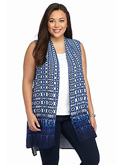 Ruby Rd Plus Size Corsica Printed Vest