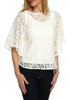 Ruby Rd Desert Rose Lace Circle Top