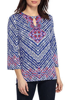 Ruby Rd Petite Viva Antigua Placement Print Tunic