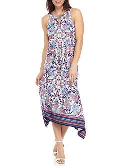 Ruby Rd Petite Viva Antigua Paisley Print Dress