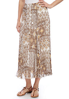 Ruby Rd Coconut Cove Broomstick Skirt