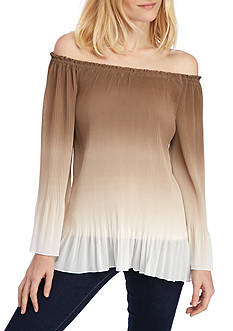 Ruby Rd Coconut Cove Crystal Pleated Blouse