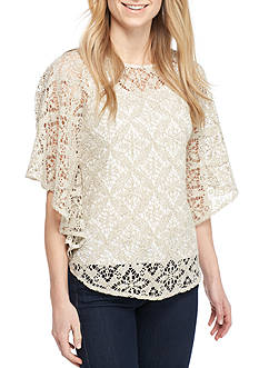 Ruby Rd Coconut Cove Diamond Crochet Top