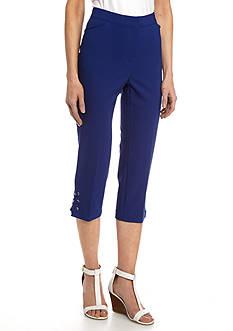 Ruby Rd Cabana Cool Lace Up Hem Crop Pants