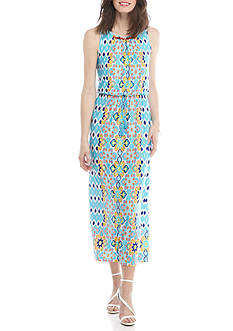 Ruby Rd Cabana Cool Placed Print Maxi