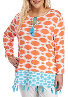 Ruby Rd Plus Cabana Cool Tassel Tunic