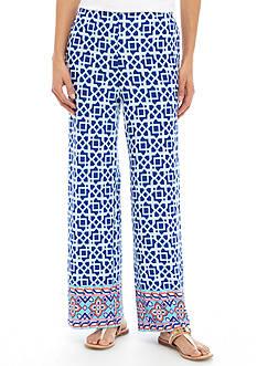 Ruby Rd Petite Geometric Soft Pants