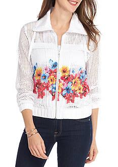 Ruby Rd Flower Pop Floral Border Print Jacket