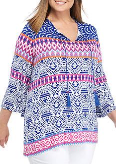 Ruby Rd Plus Size Tassel Knit Top