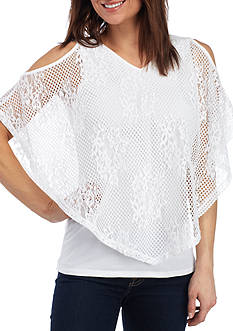 Ruby Rd Cold Shoulder Lace Top