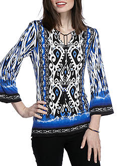 Ruby Rd Modern Knits Tie Paisley Top