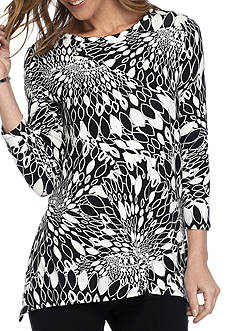 Ruby Rd Must Have Sharkbite Border Print Tunic