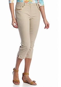 Ruby Rd Coral Canyon Stretch Canvas Capri