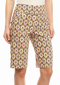 Ruby Rd Petite To A Tee Printed Millennium Tech Shorts