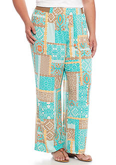 Ruby Rd Plus Size Sierra Sunset Printed Soft Pant