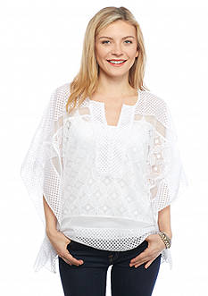 Ruby Rd Petite Modern Tribe Lace Top