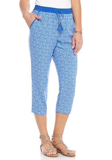 Ruby Rd Summer Solstice Pull On Printed Soft Pants