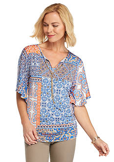 Ruby Rd Summer Solstice Patchwork Kimono Top
