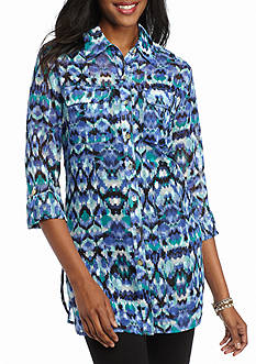 Ruby Rd Petite Prints Please Chiffon Tunic