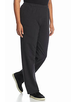 Ruby Rd Plus Size Hide & Chic French Terry Pull On Pants