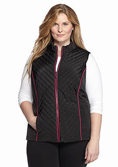 Ruby Rd Plus Size Multi Dot Piping Vest