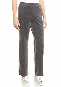 Ruby Rd Petite Jewel Box Brights Pull On Velour Pant