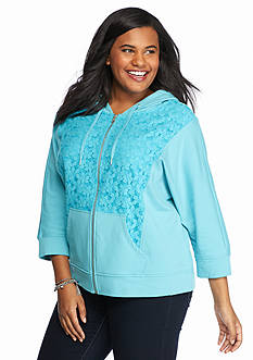 Ruby Rd Plus Size Instant Replay Knit Jacket