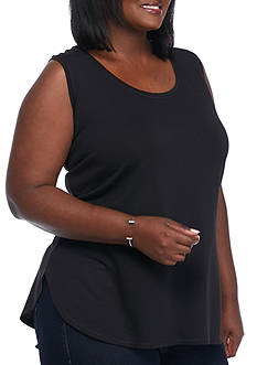 Ruby Rd Plus Size Must Have Solid Scoop Tank