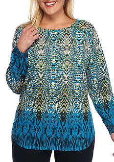 Ruby Rd Must-Haves Thermal Incan Crew Top