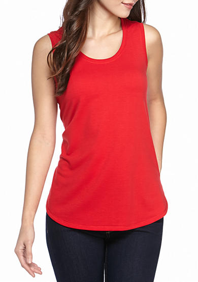 Ruby Rd Petites Must Haves Athleisure French Terry Tank