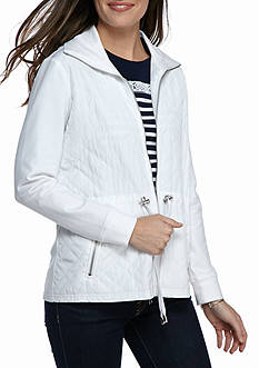 Ruby Rd Fresh Start Quilted French Terry Drawstring Waist Jacket