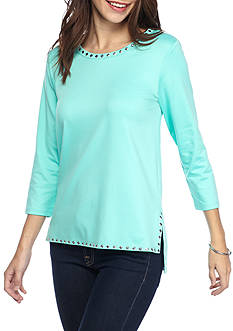 Ruby Rd Fresh Start Three Quarter Sleeve Top