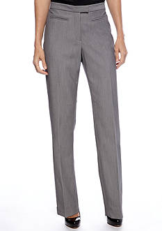 Ruby Rd Extended Tab Flat Front Side Elastic Pant