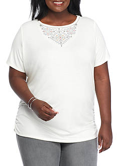 Ruby Rd Plus Size Short Sleeve Tee