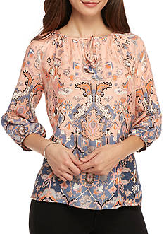 Ruby Rd Floral Peasant Woven