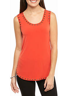 Ruby Rd Gypsy Caravan Embellished Knit Tank