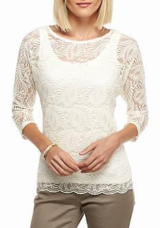 Ruby Rd Gypsy Paisley Dolman Sleeve Knit