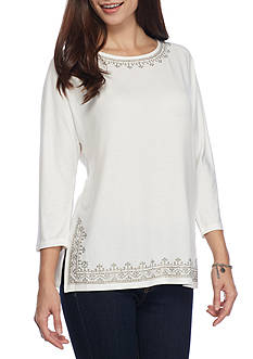 Ruby Rd Petite Embellished Knit Top