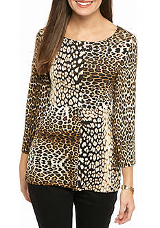 Ruby Rd Must-Haves Embellished Leopard Top