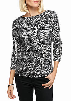 Ruby Rd Must-have Snake Print Knit