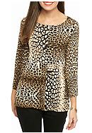 Ruby Rd Must Haves Embellished Leopard Print Knit