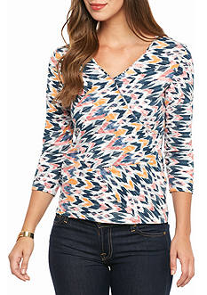 Ruby Rd Must-Haves Embellished Patchwork Top