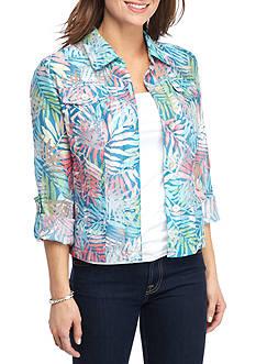 Ruby Rd Key Items Print Burnout Jacket