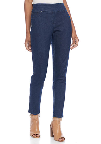 Ruby Rd Petite Size Pull On Short Length Jeans