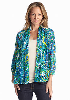 Ruby Rd Petite Key Items Printed Lace Cardigan