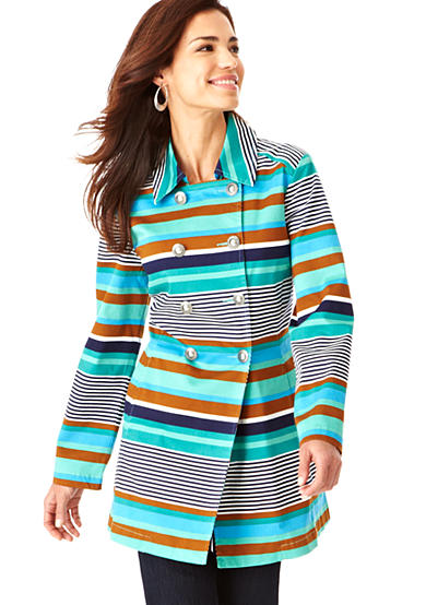 Live a Little Stripe Day Coat