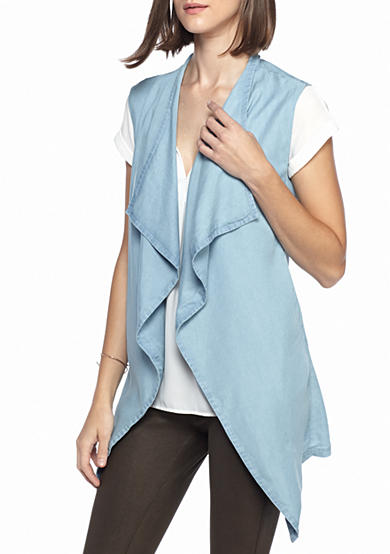 Live a Little Cascade Front Chambray Vest