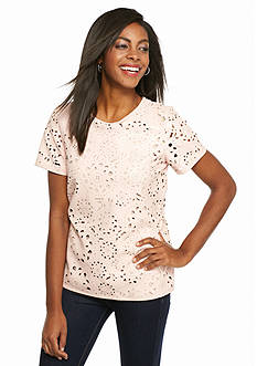 Live a Little Perforated Top